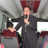 President of C.M.B.G., Welcome message in the bus tour from Mr. Will Sung